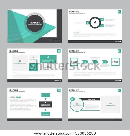 Triangle green presentation template Infographic elements flat design set for brochure flyer leaflet marketing advertising - stock vector