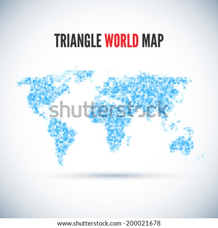 Triangle Map abstract isolated on a white backgrounds - stock vector