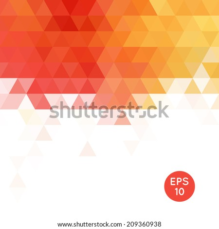 Triangle mosaic background. Abstract modern wallpaper. Vector illustration. - stock vector