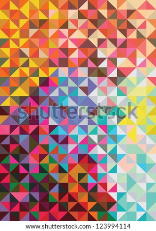 triangle mosaic background. vector illustration - stock vector