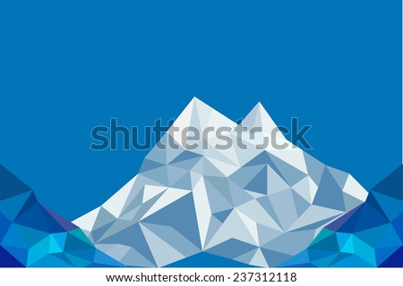 triangle mountain background  - stock vector