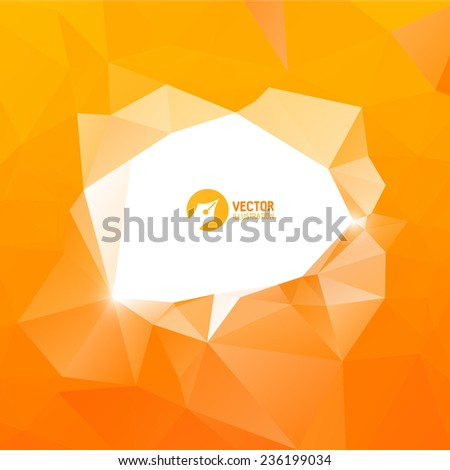 Triangle orange bubble for your business - stock vector