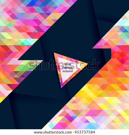 Triangle pattern background. Vector illustration for magazines, postcards, information titles,etc.