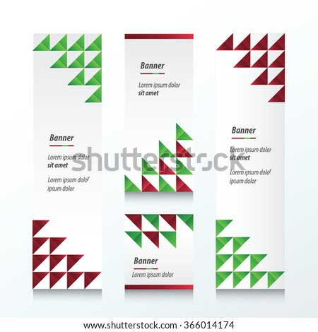 Triangle pattern  Christmas Styles color - stock vector