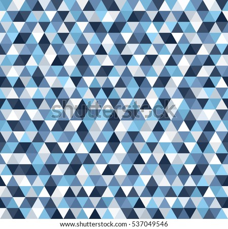 Triangle Pattern Seamless Vector Background Blue Gray White Triangles