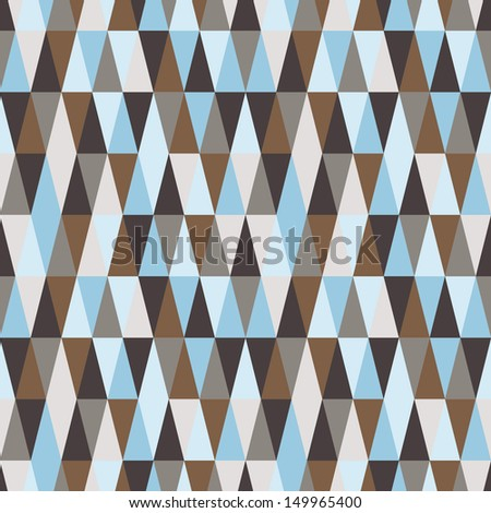 triangle seamless geometry background - stock vector