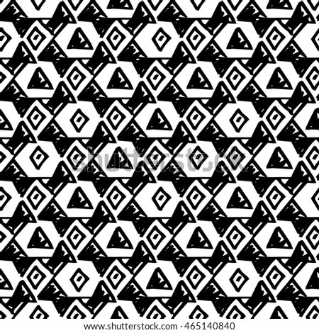 Triangle simple seamless pattern hand drawn, vector.
