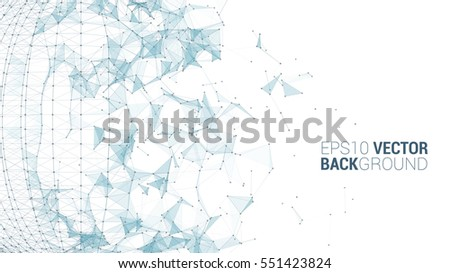 triangle sphere vector background design