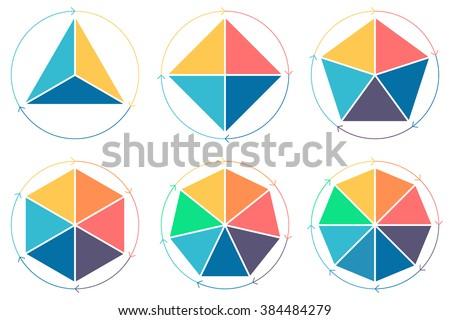Triangle Square Pentagon Hexagon Heptagon Octagon Stock-Vektorgrafik ...