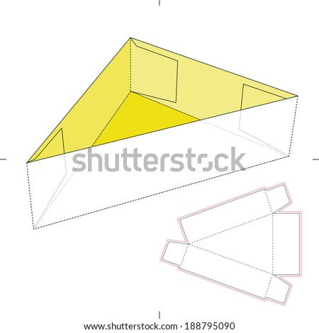 Triangle Tray Diecut Layout Stock Vector 188795090 Shutterstock