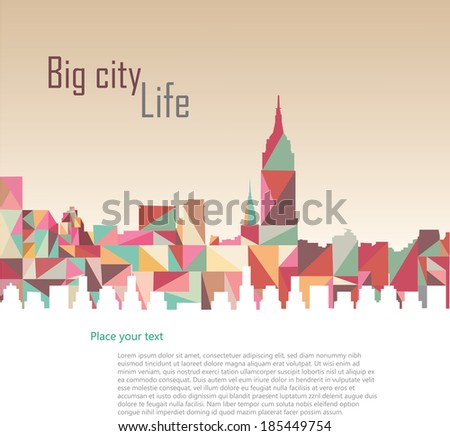 Triangle vector city - stock vector