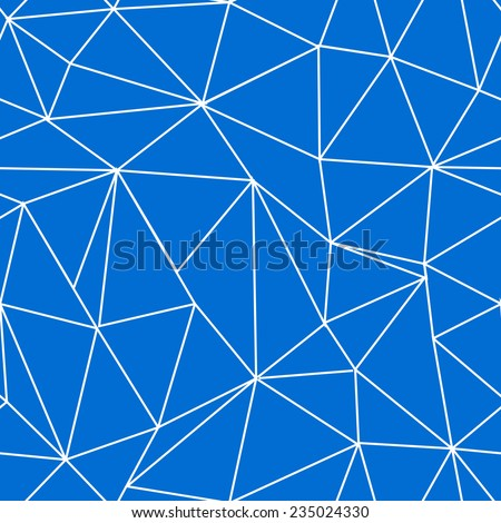 Triangle vector seamless pattern, cute geometric tile - stock vector
