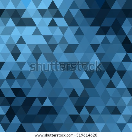 Triangles background. Blue vector illustration abstract pattern - stock vector