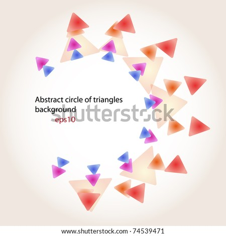 Triangles background. ready for the text - stock vector