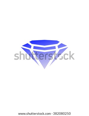 Triangles in diamond. Diamond isolated on white. Bright diamond. Valentine diamond.  Gift. Diamond symbol. Diamond background - stock vector