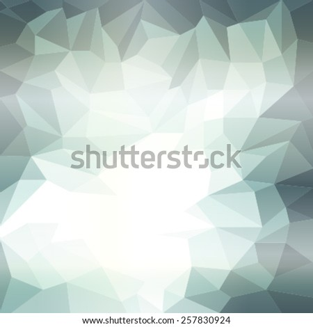 triangles pattern green white - stock vector