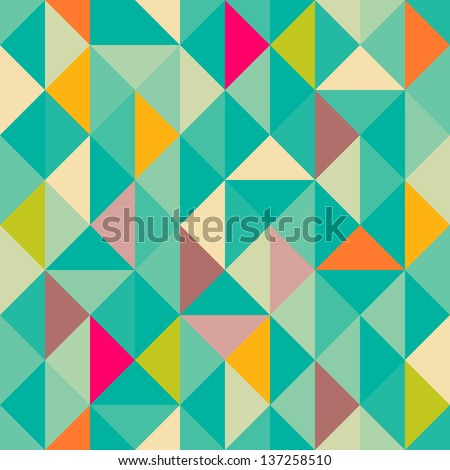 Triangles seamless pattern - stock vector