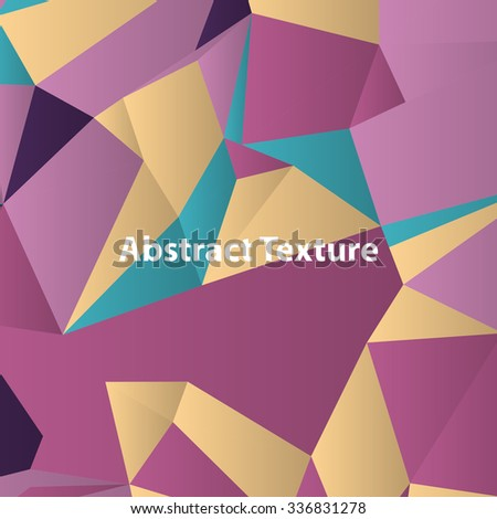 Triangles with shades and colors arranged in colorful pattern. Geometrical pattern with vintage colors. Abstract background with 3d design elements. Material design texture for backgrounds and gui.