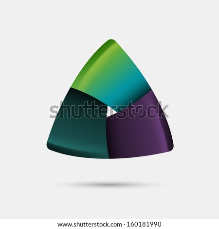 Triangular abstract shape, eps10 vector - stock vector