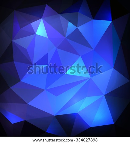 triangular background with deep blue  colors. winter style - stock vector