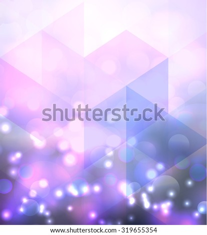 triangular background with light pink and blue  colors - stock vector