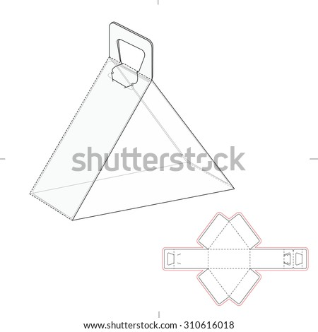 Packaging design stock photos images pictures for Triangle packaging template