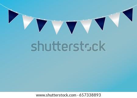 Triangular Flag Ideas Design Vector Illustration Stock Vector ...