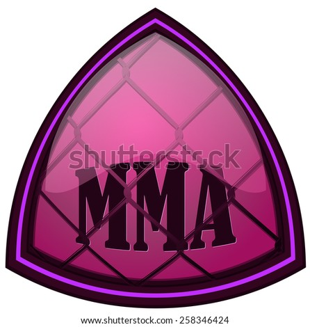 Triangular MMA Sign, Vector Illustration isolated on White Background. - stock vector