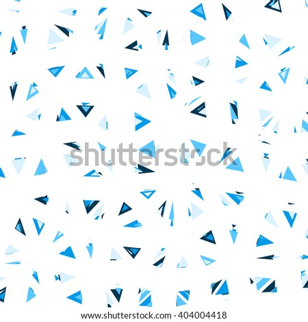 Triangular Vector Pattern. Glitch trendy illustration. - stock vector