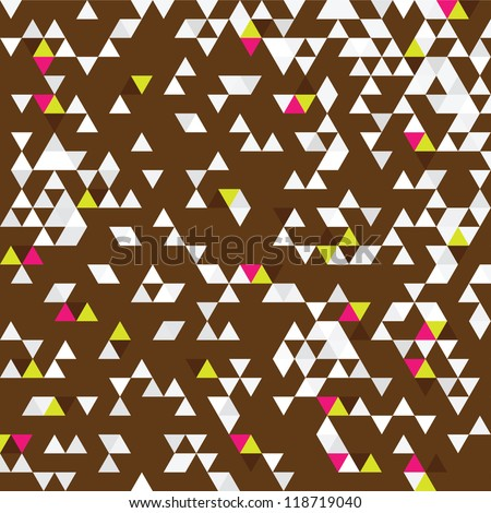 TRIANGULATION BROWN FUXIA - stock vector