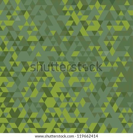 TRIANGULATION GREEN GRADIENT - stock vector