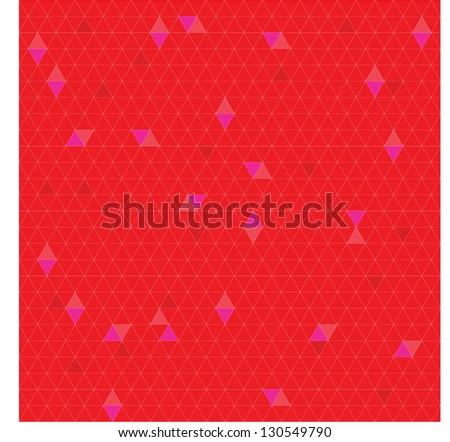 TRIANGULATION RED FIRE - stock vector