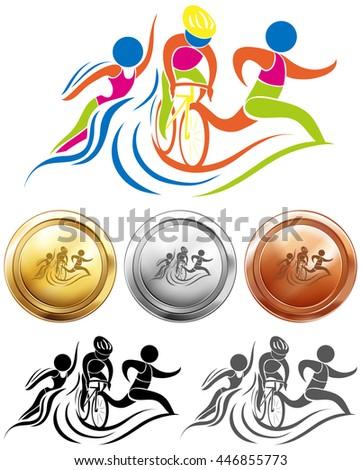 triathlon logo stock images royaltyfree images amp vectors
