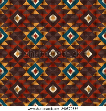 Tribal aztec pattern on wool knitted stock vector 240570889 tribal aztec pattern on the wool knitted texture seamless background dt1010fo