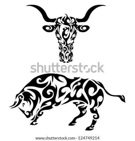 tattoo tribal bull skull Tattoo Tribal  vector bull Skull Bull  Tribal Designs stock