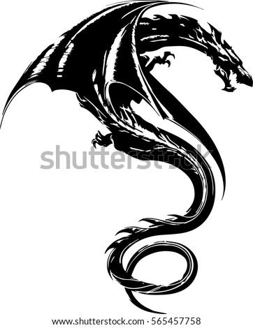 dragon tattoo stock images royalty free images vectors shutterstock. Black Bedroom Furniture Sets. Home Design Ideas
