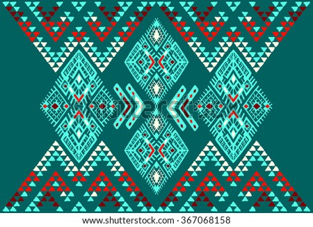 Tribal Ethnic collection, the elements of ethnic patterns of the Aztecs. Background seamless vector pattern.