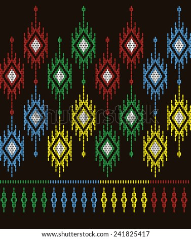 Tribal ethnic.Designs for fabric and printing.Beautiful abstract background.