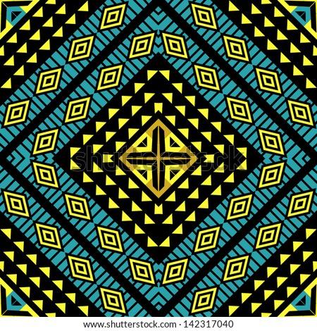 Tribal ethnic geometric ornament seamless pattern - stock vector