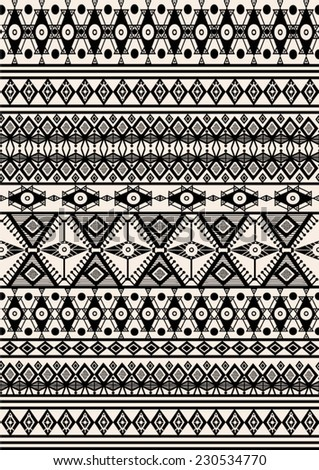 Tribal,ethnic pattern,background with geometric elements. - stock vector