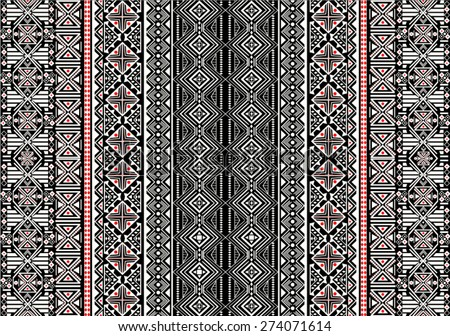 Tribal,ethnic pattern,background with geometric elements in vector. - stock vector