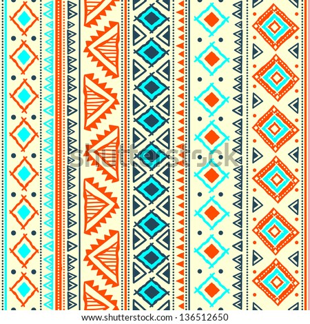 Tribal ethnic seamless - stock vector