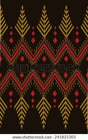 Tribal ethnic vector pattern.