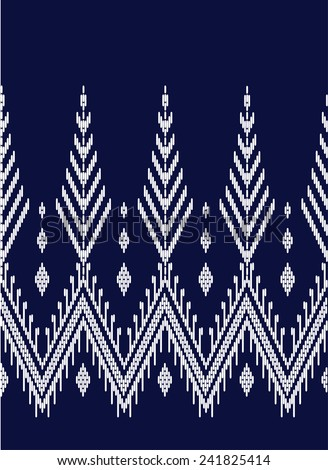 Tribal ethnic vector pattern.Designs for fabric and printing. - stock vector
