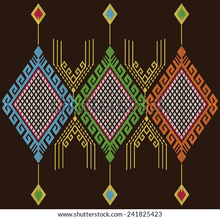 Tribal ethnic vector pattern.Designs for fabric and printing.Abstract beautiful background.