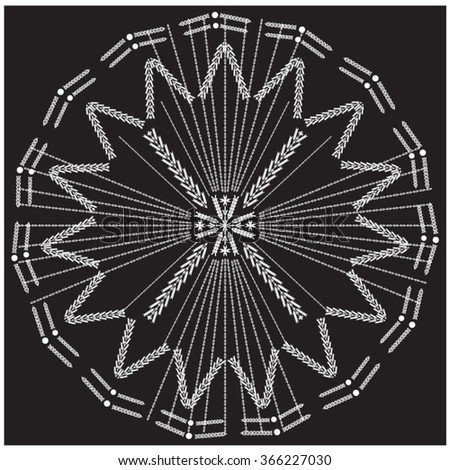 Tribal ethnic vector pattern.Designs for fabric and printing and bohemian and indian black and white design - stock vector