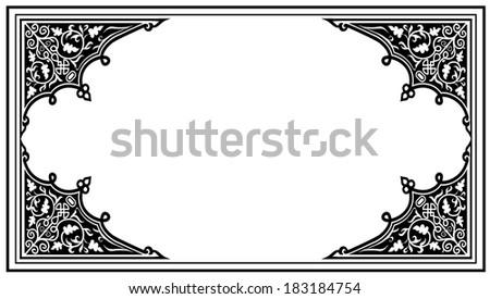 Tribal frame - stock vector