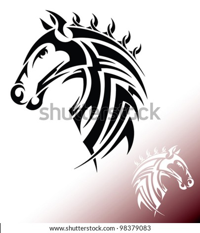 Tribal horse stock images royalty free images vectors for Thoroughbred tattoo lookup