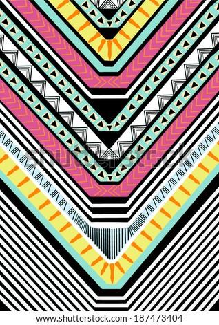 Tribal print - stock vector