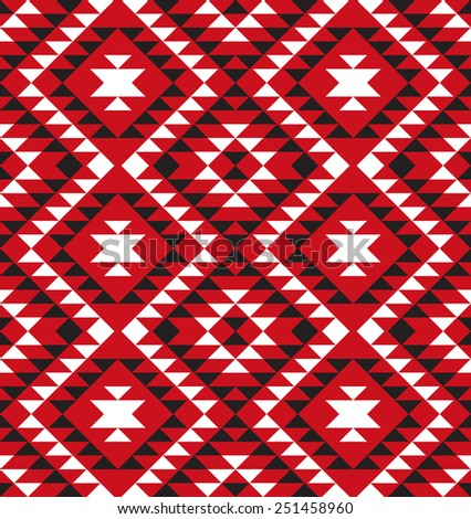 Tribal seamless colorful geometric pattern. - stock vector